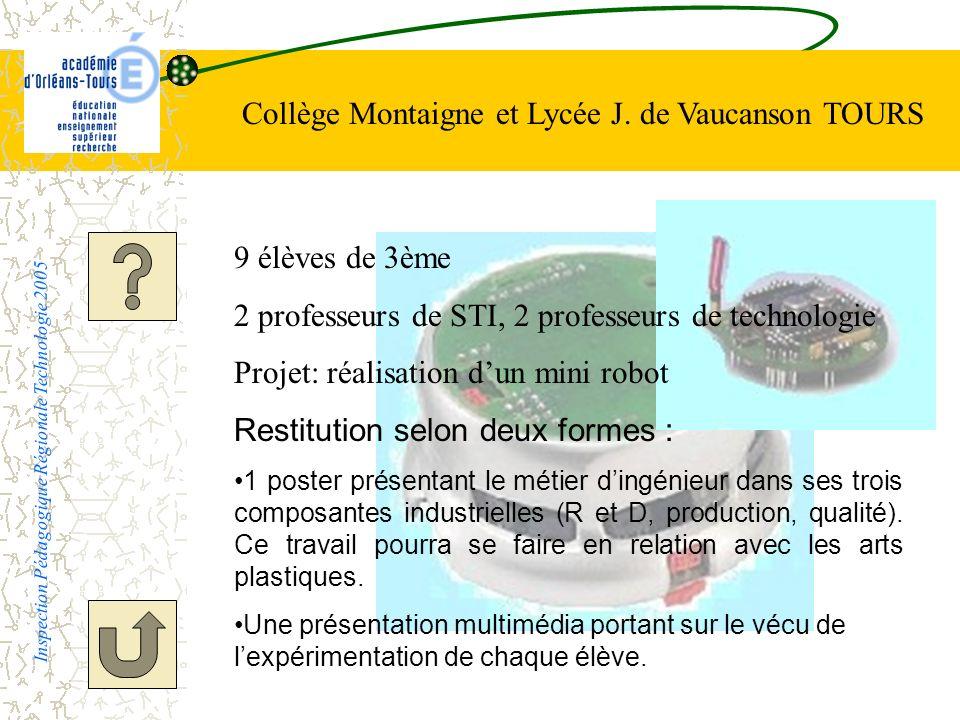 Collège Montaigne et Lycée J. de Vaucanson TOURS