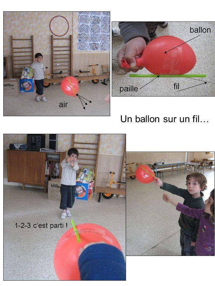 Un ballon sur un fil… prêts ballon fil paille air