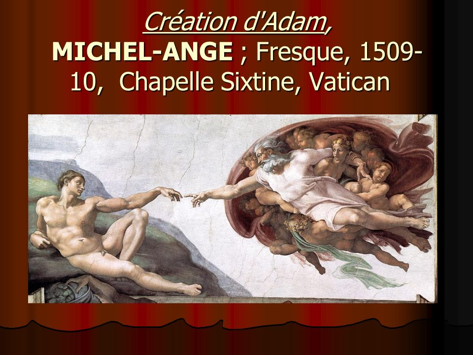 Création d Adam, MICHEL-ANGE ; Fresque, 1509-10, Chapelle Sixtine, Vatican