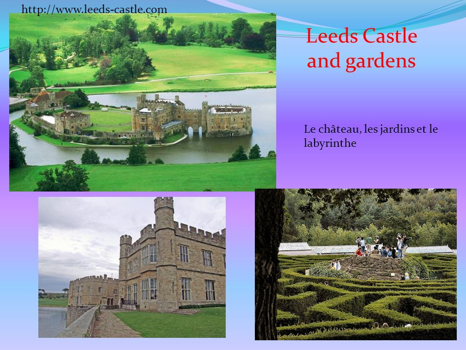 Leeds Castle and gardens http://www.leeds-castle.com