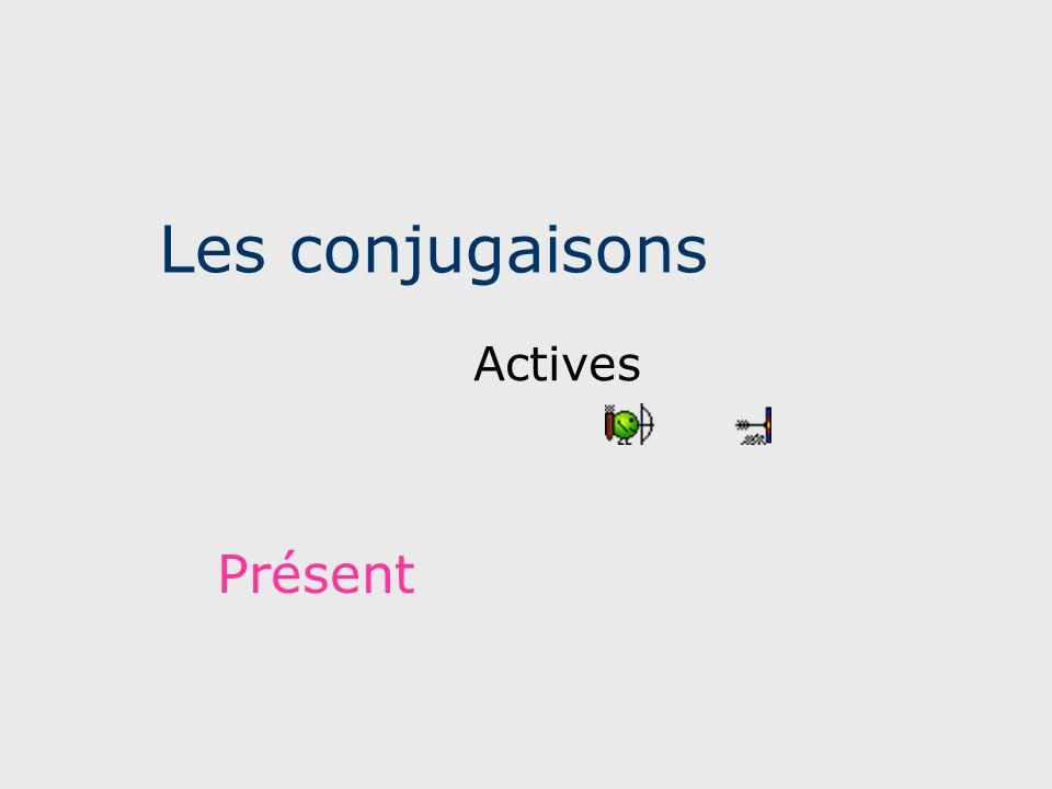 Les conjugaisons Actives Présent