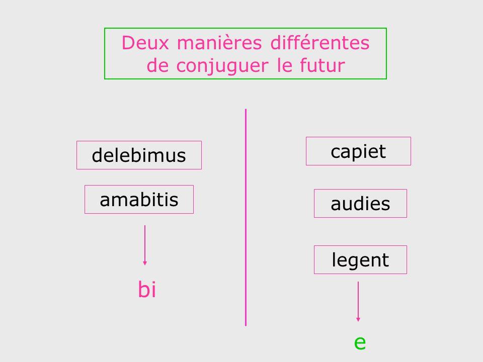 Deux manières différentes de conjuguer le futur