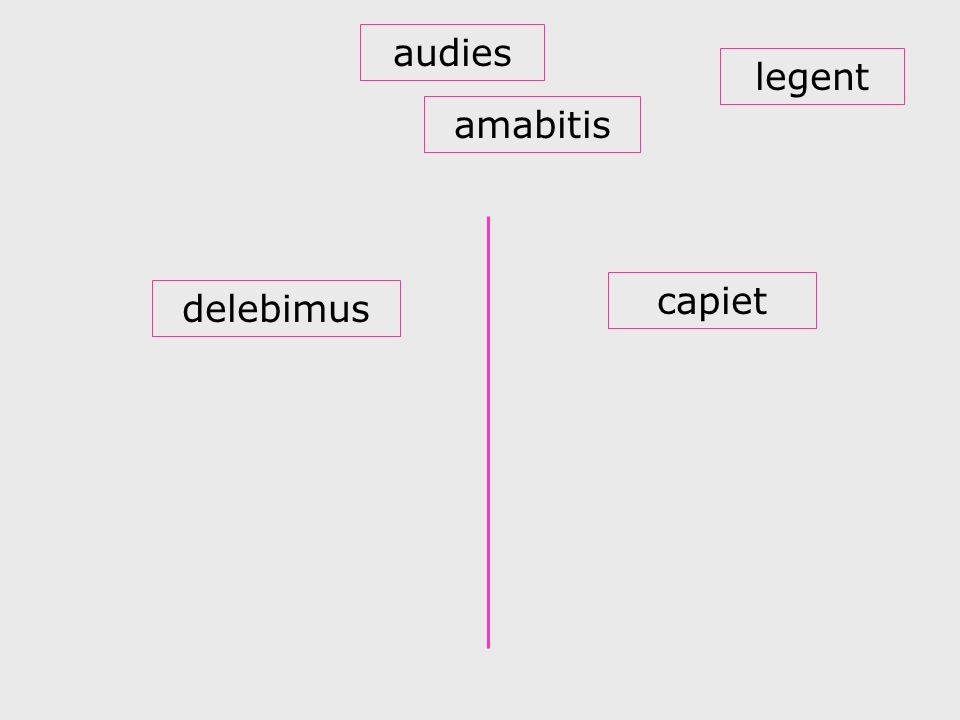 audies legent amabitis capiet delebimus