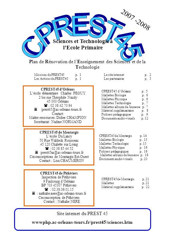 Sciences et Technologie à l'Ecole Primaire