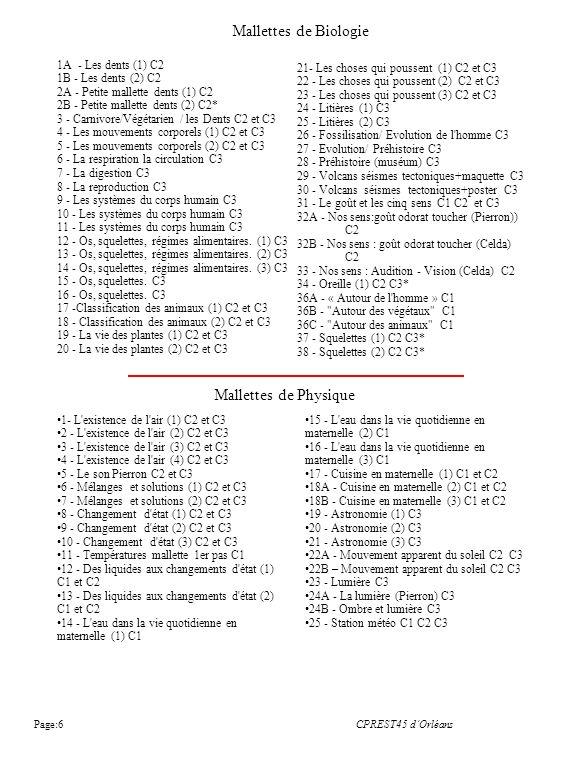 Mallettes de Biologie Mallettes de Physique 1A - Les dents (1) C2