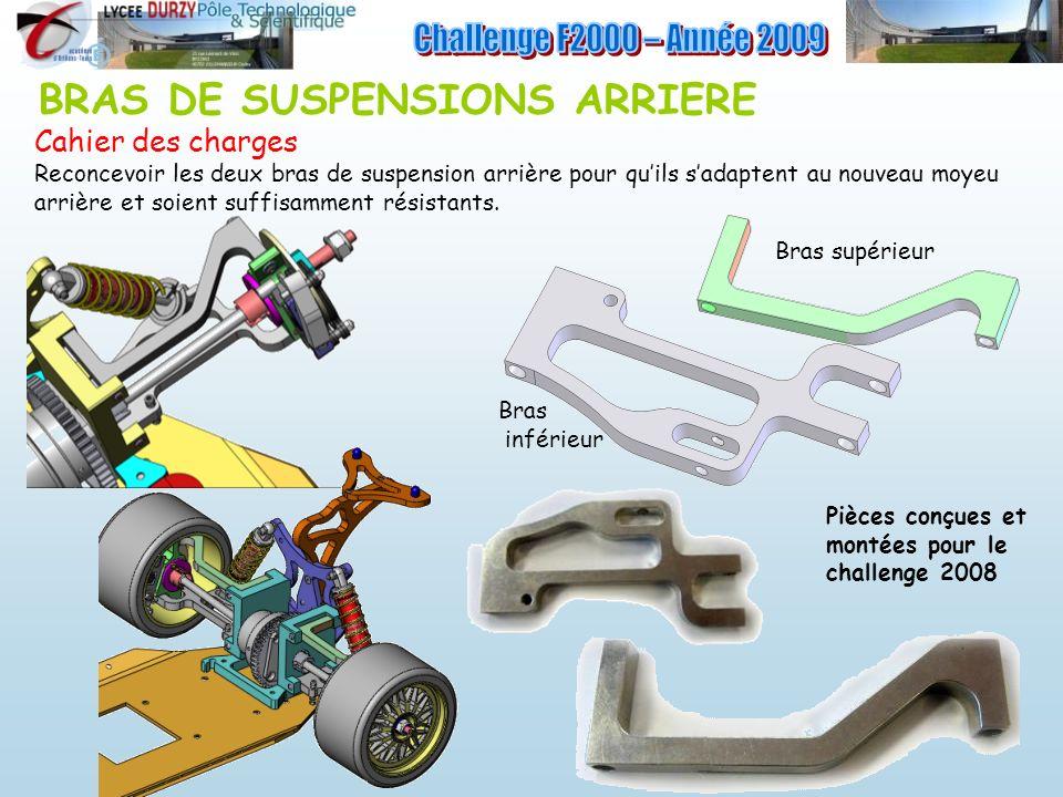 Challenge F2000 – Année 2009 BRAS DE SUSPENSIONS ARRIERE