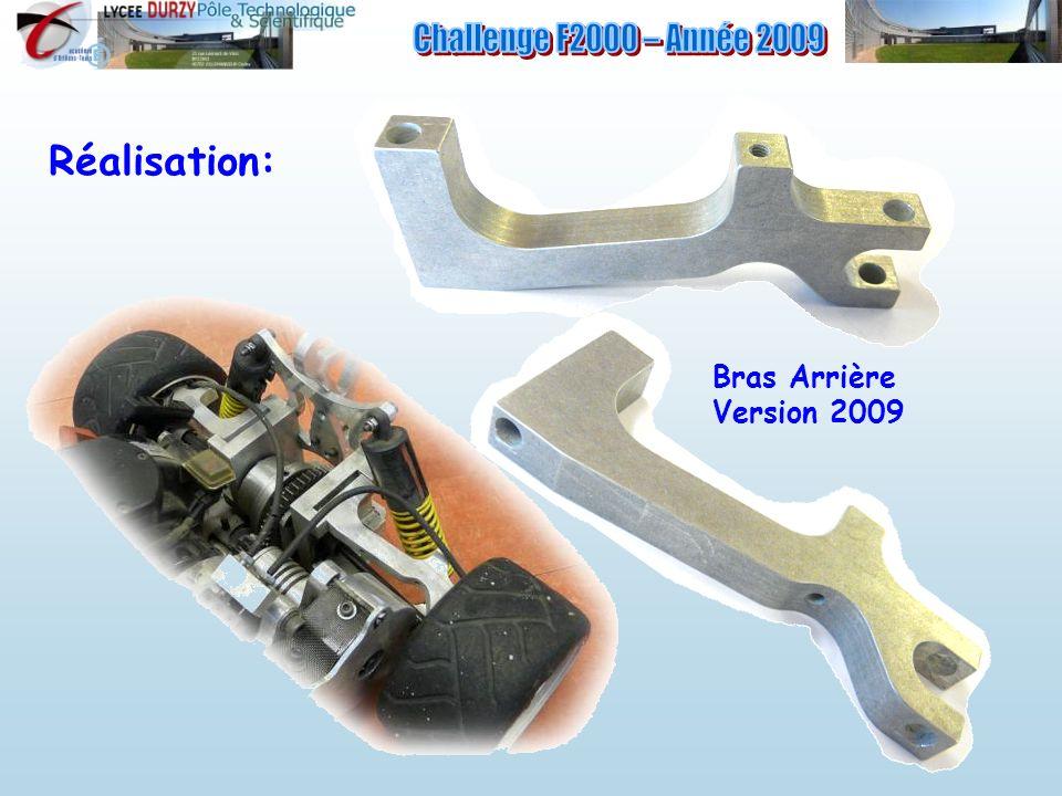 Challenge F2000 – Année 2009 Réalisation: Bras Arrière Version 2009