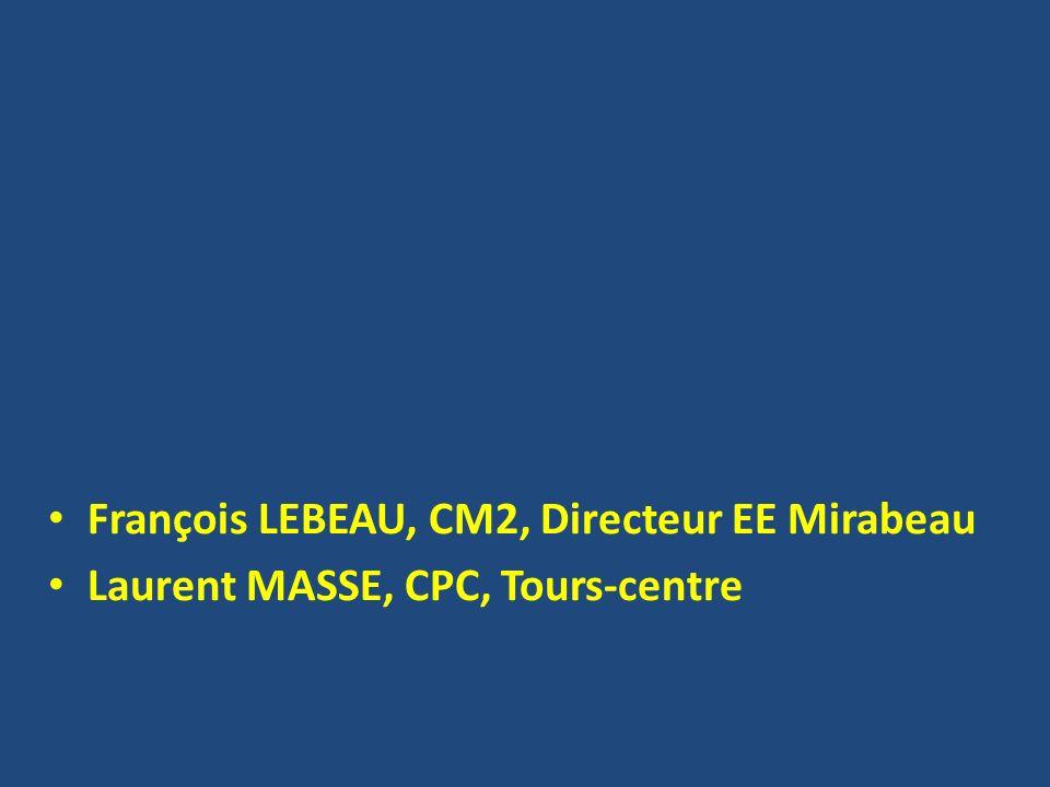 François LEBEAU, CM2, Directeur EE Mirabeau