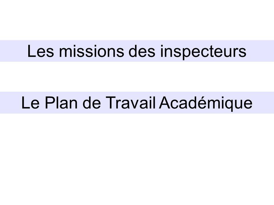 Les missions des inspecteurs
