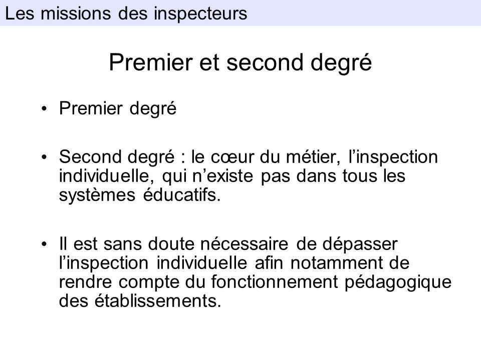 Premier et second degré