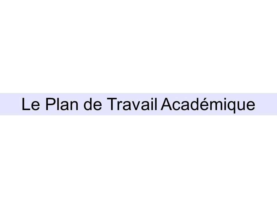 Le Plan de Travail Académique