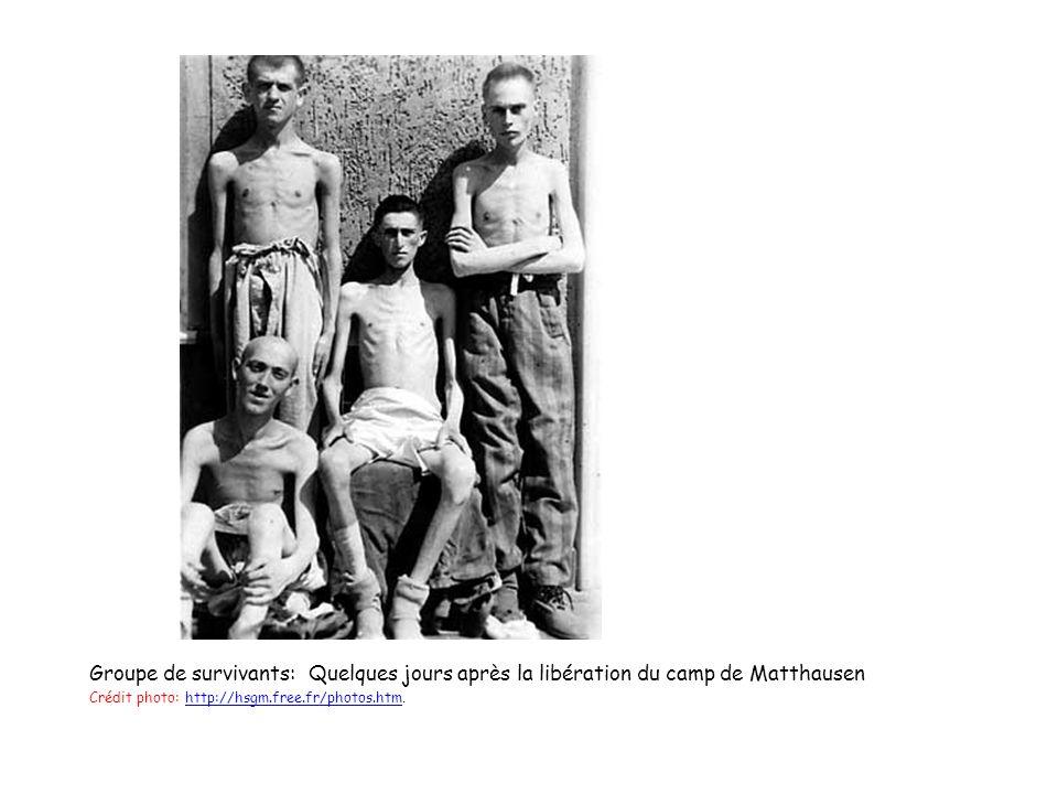 Groupe de survivants: Quelques jours après la libération du camp de Matthausen