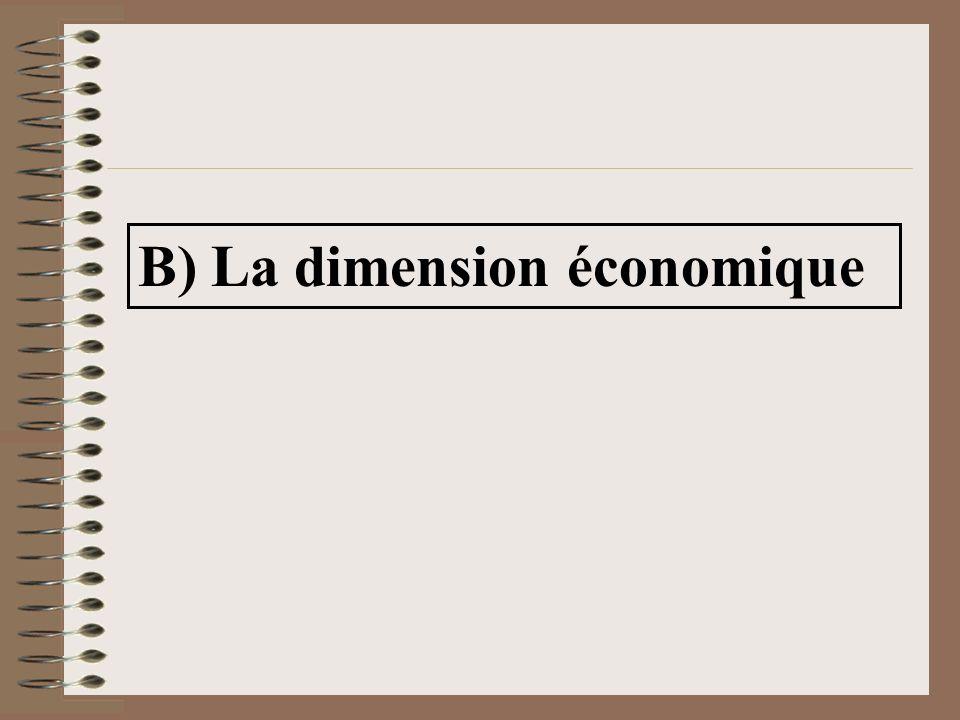 B) La dimension économique