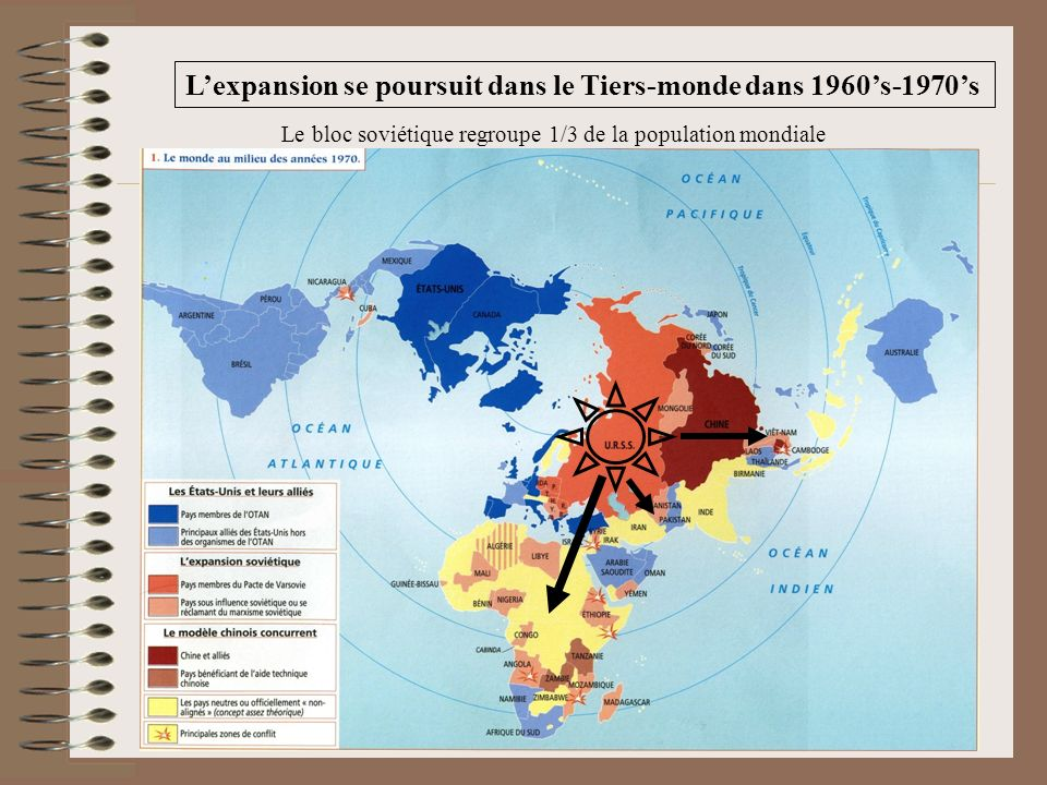 L'expansion se poursuit dans le Tiers-monde dans 1960's-1970's