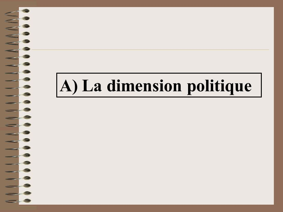 A) La dimension politique