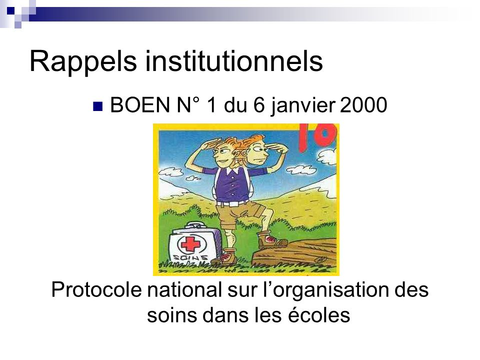 Rappels institutionnels
