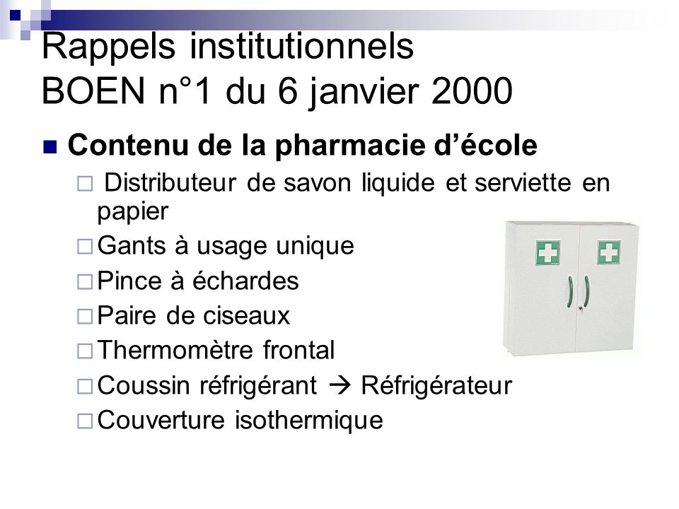 Rappels institutionnels BOEN n°1 du 6 janvier 2000