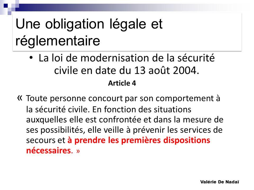 Une obligation légale et réglementaire