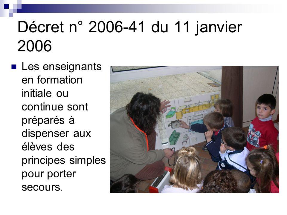 Décret n° 2006-41 du 11 janvier 2006