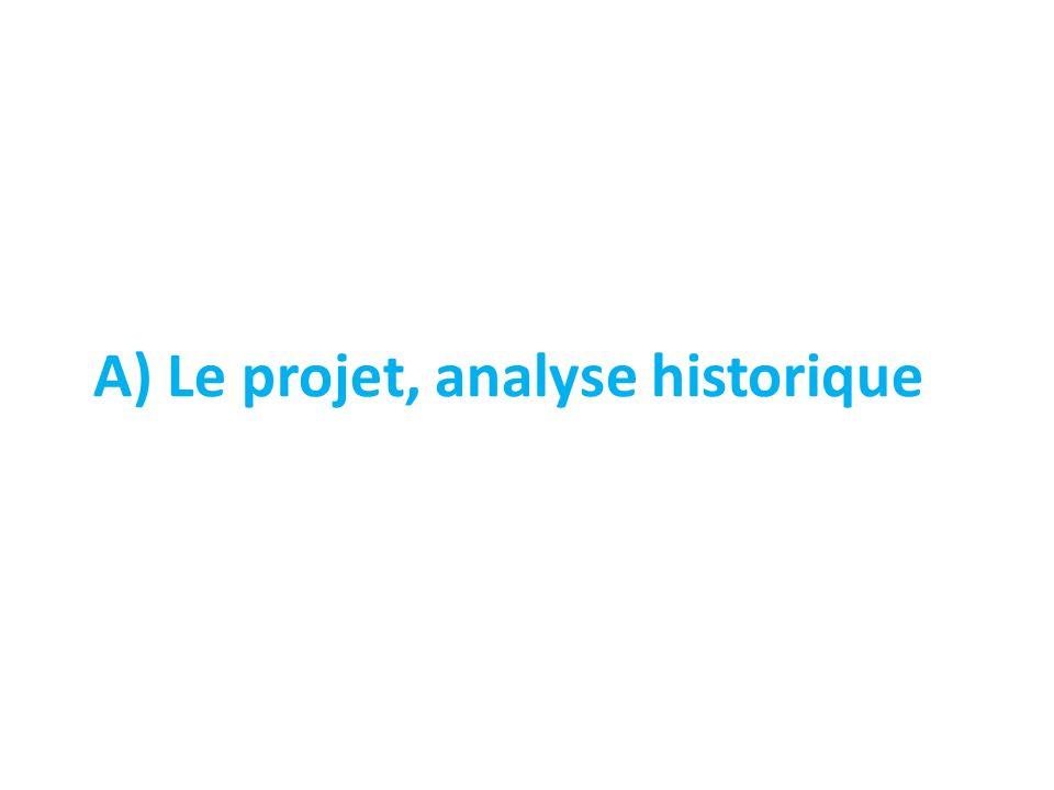 A) Le projet, analyse historique