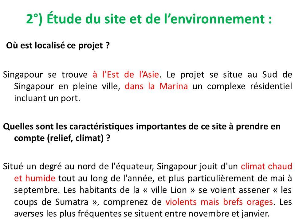 2°) Étude du site et de l'environnement :