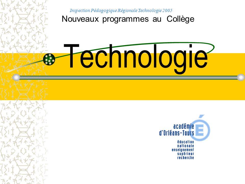 Technologie Nouveaux programmes au Collège