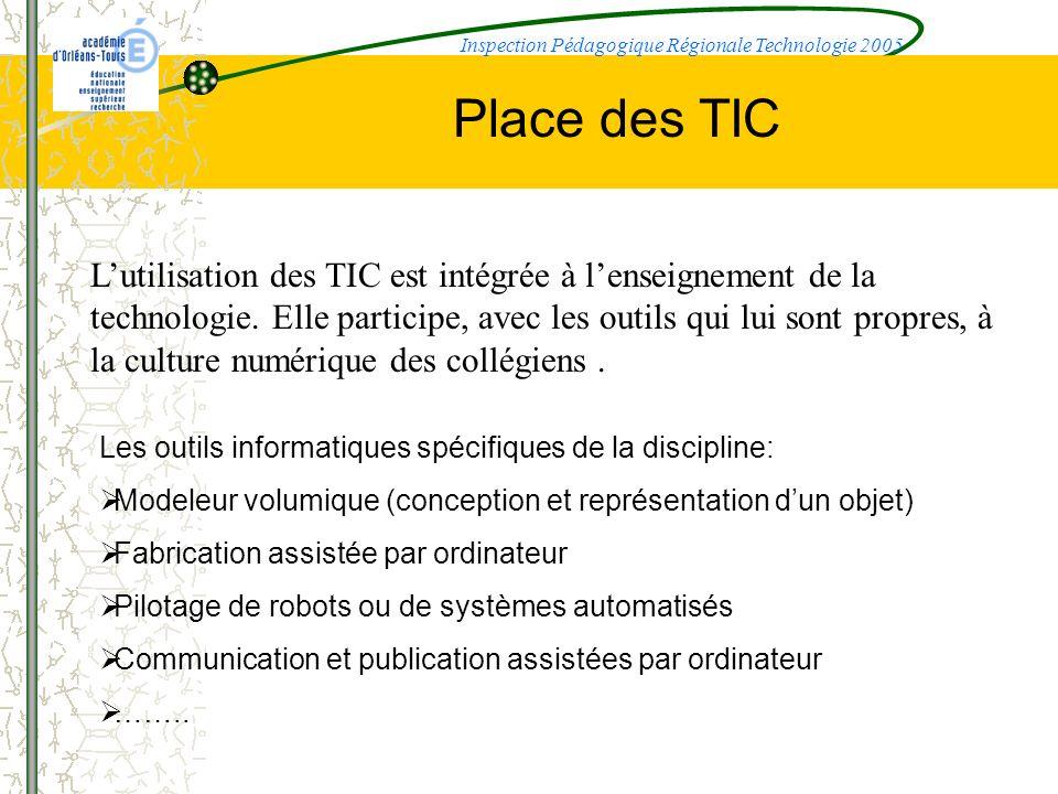 Inspection Pédagogique Régionale Technologie 2005