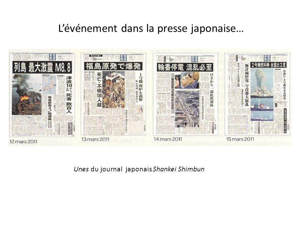 L'événement dans la presse japonaise…