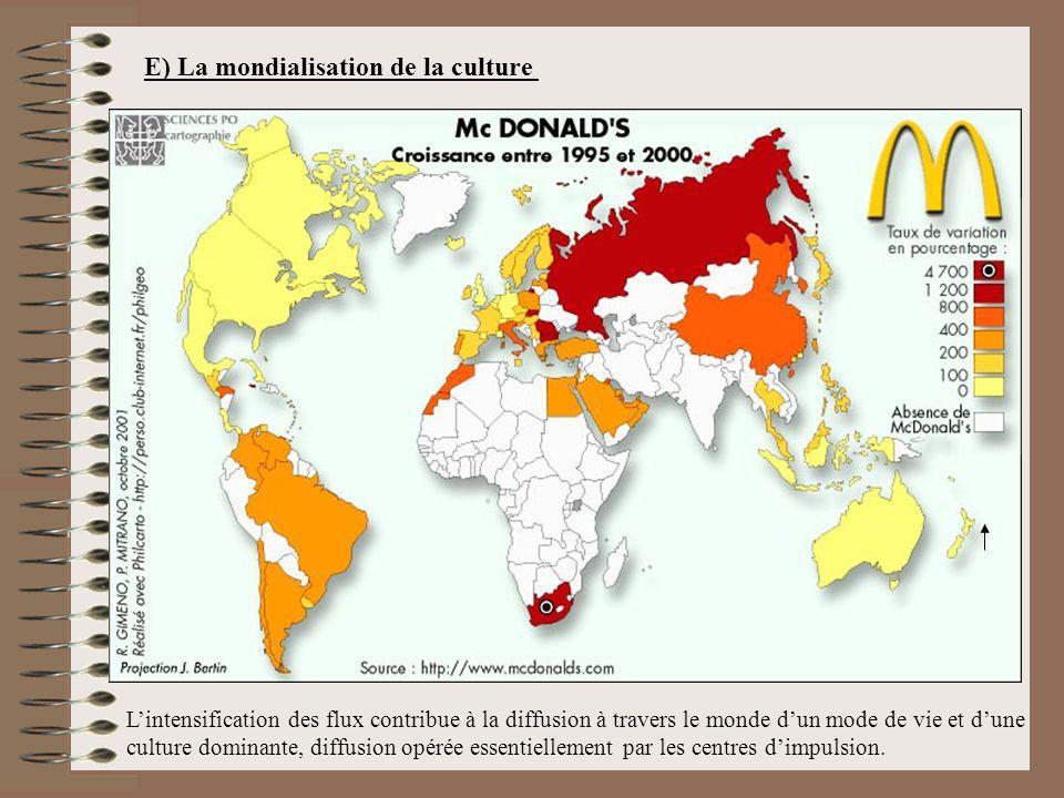 E) La mondialisation de la culture