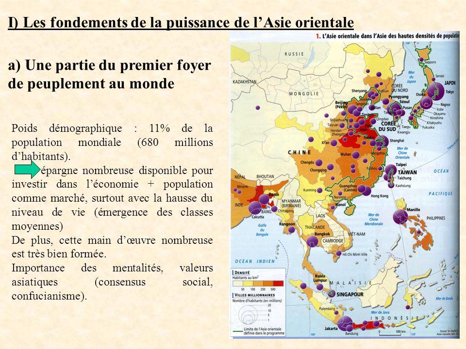 I) Les fondements de la puissance de l'Asie orientale