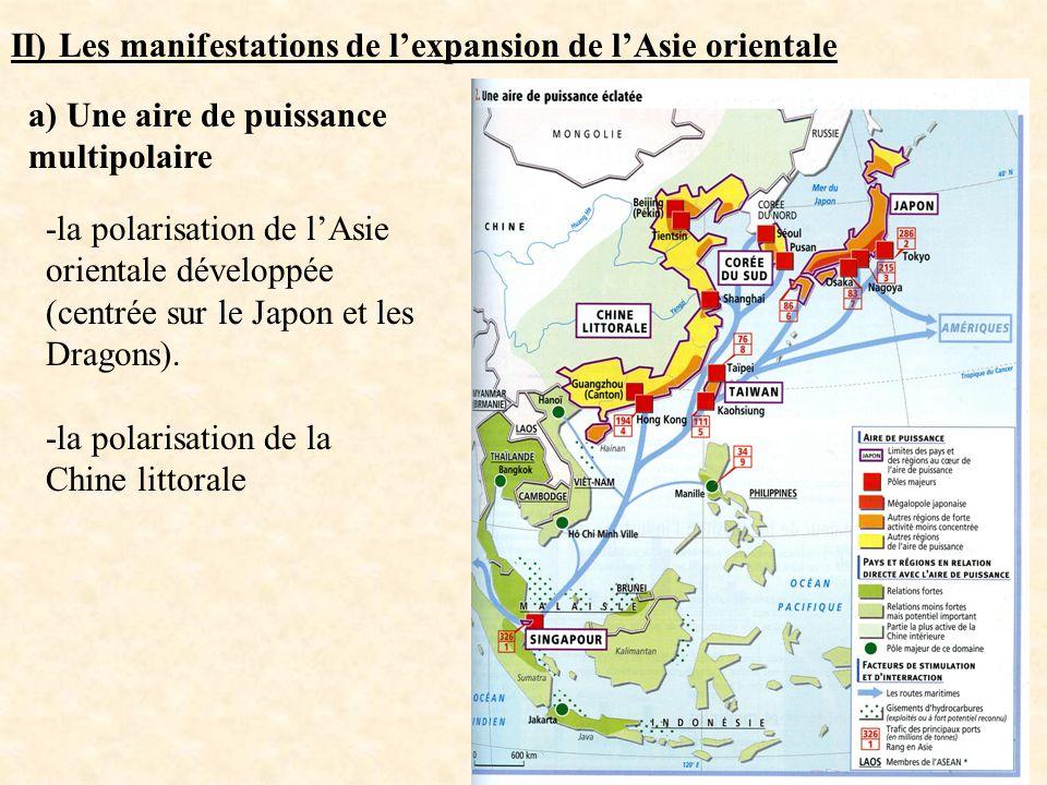 II) Les manifestations de l'expansion de l'Asie orientale