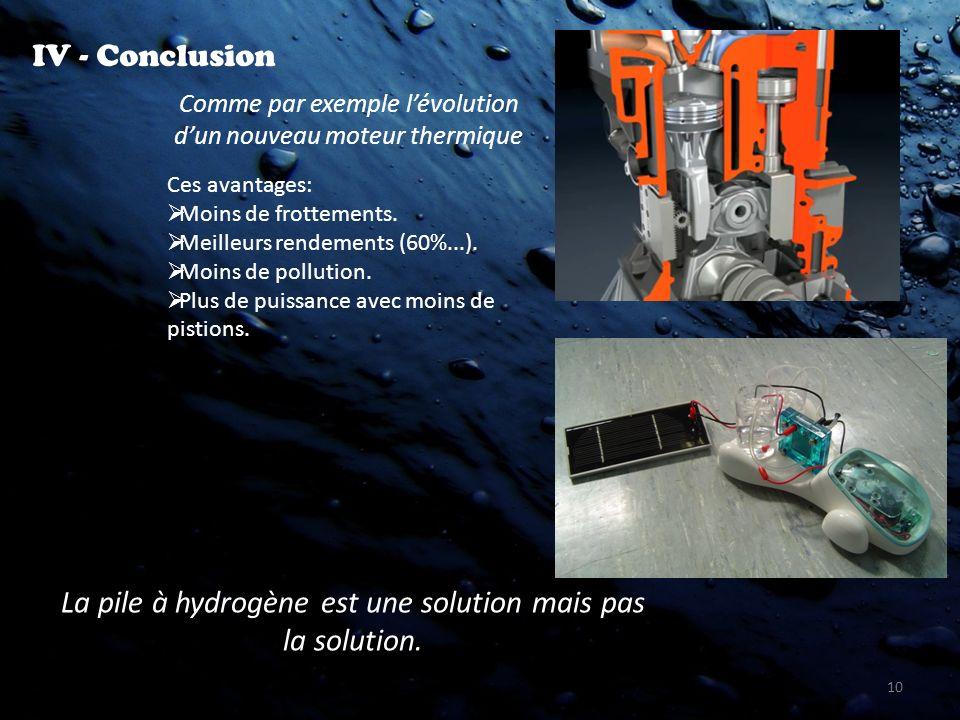 La pile à hydrogène est une solution mais pas la solution.