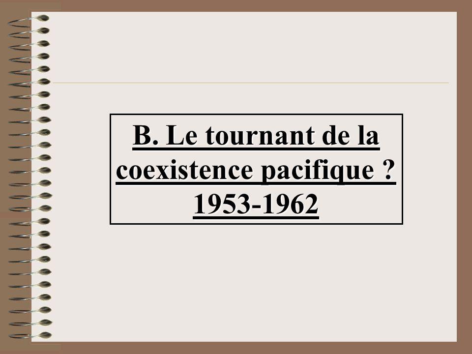 B. Le tournant de la coexistence pacifique 1953-1962