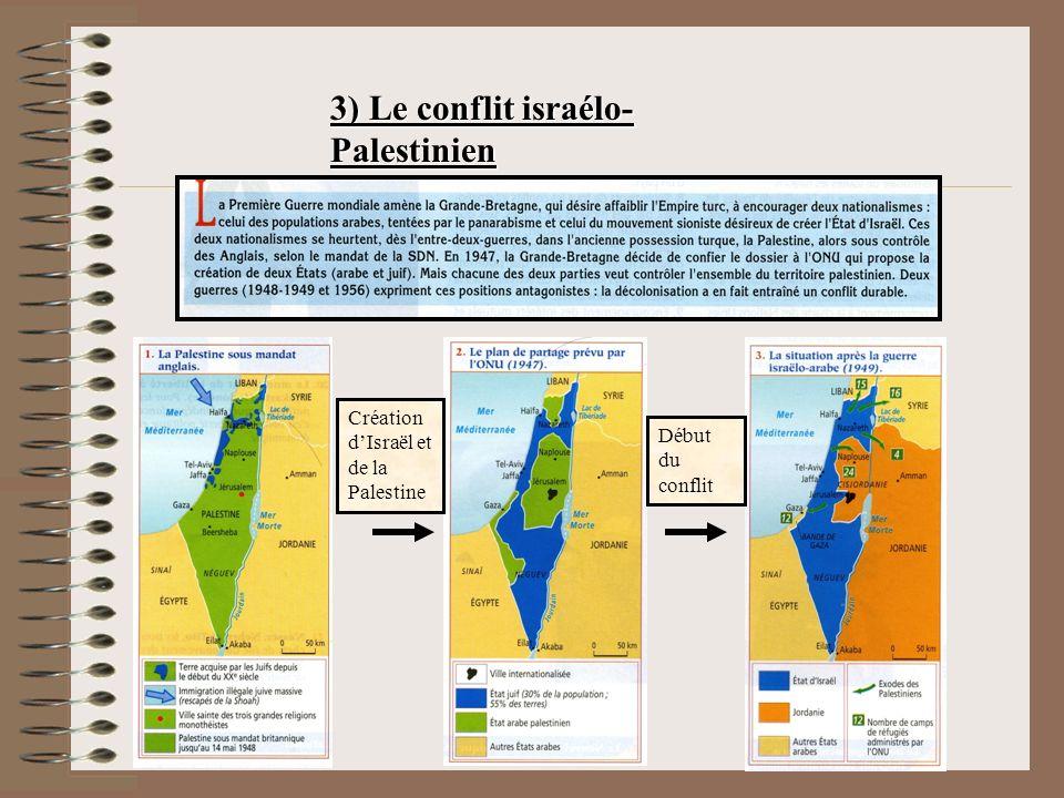 3) Le conflit israélo-Palestinien