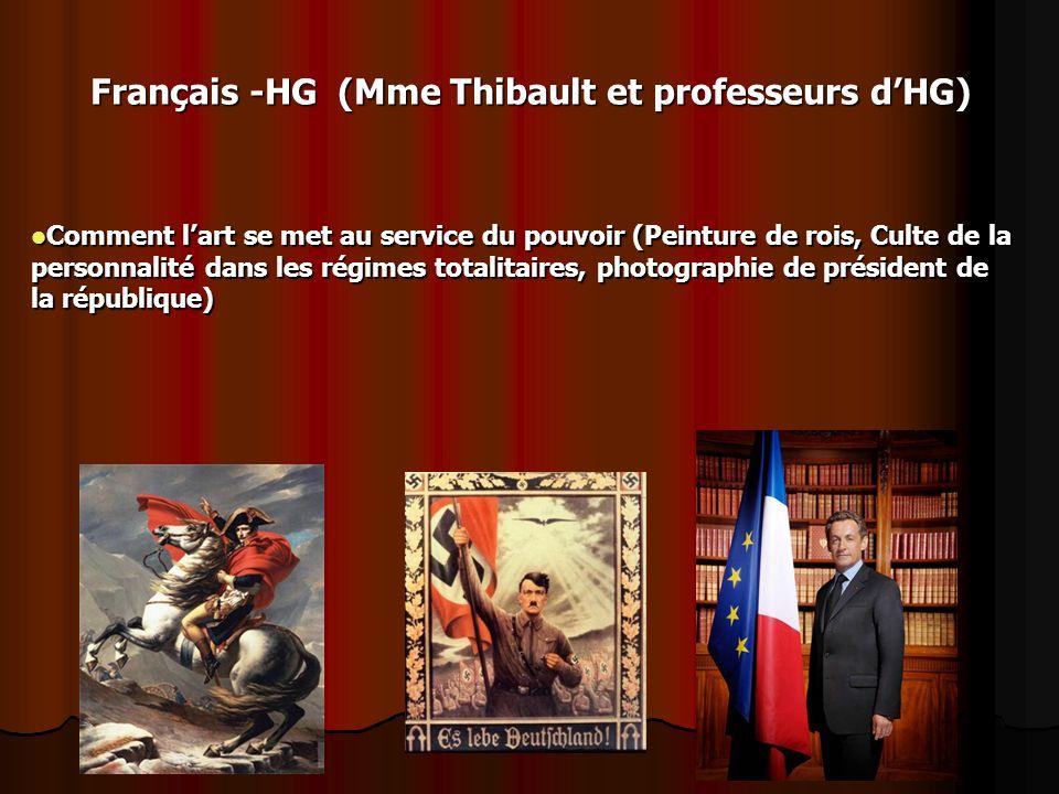 Français -HG (Mme Thibault et professeurs d'HG)