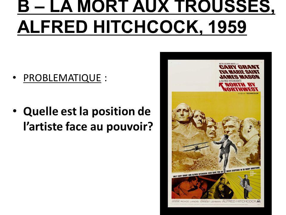 B – LA MORT AUX TROUSSES, ALFRED HITCHCOCK, 1959
