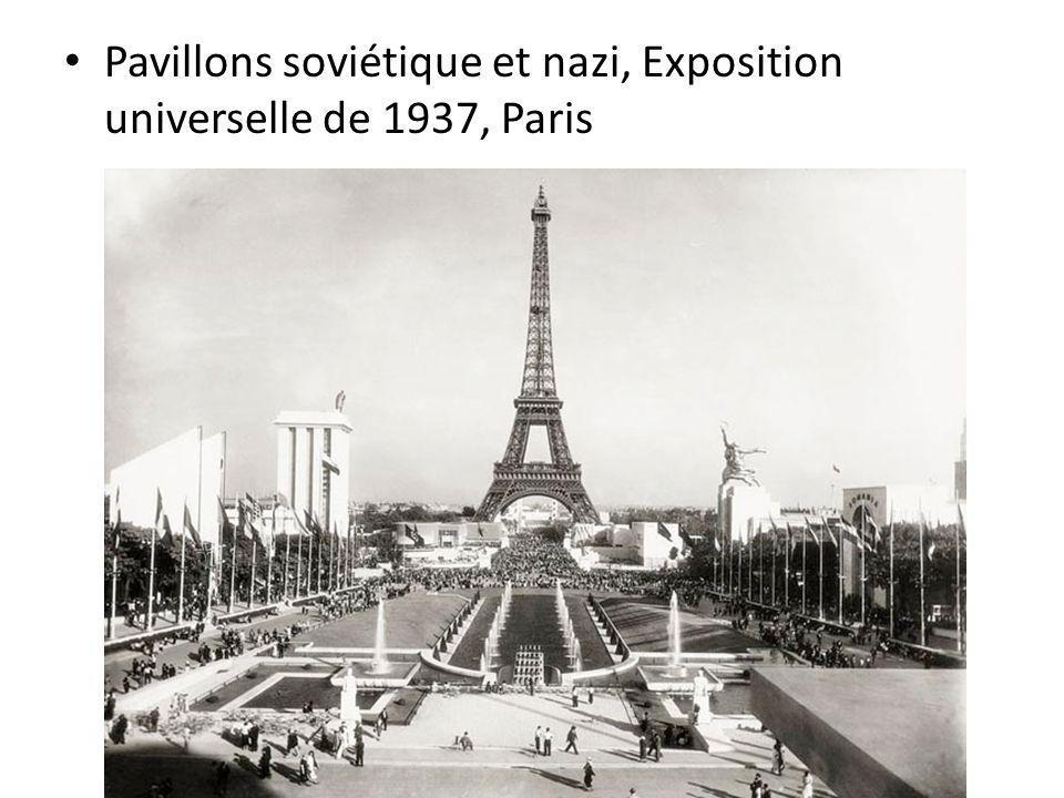 Pavillons soviétique et nazi, Exposition universelle de 1937, Paris