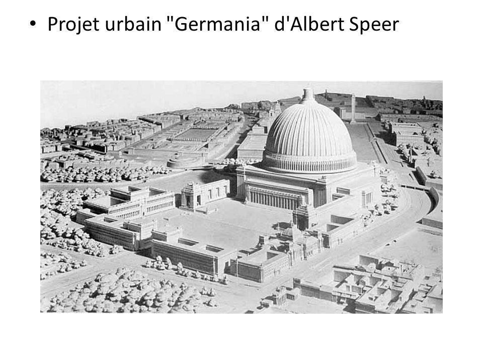 Projet urbain Germania d Albert Speer