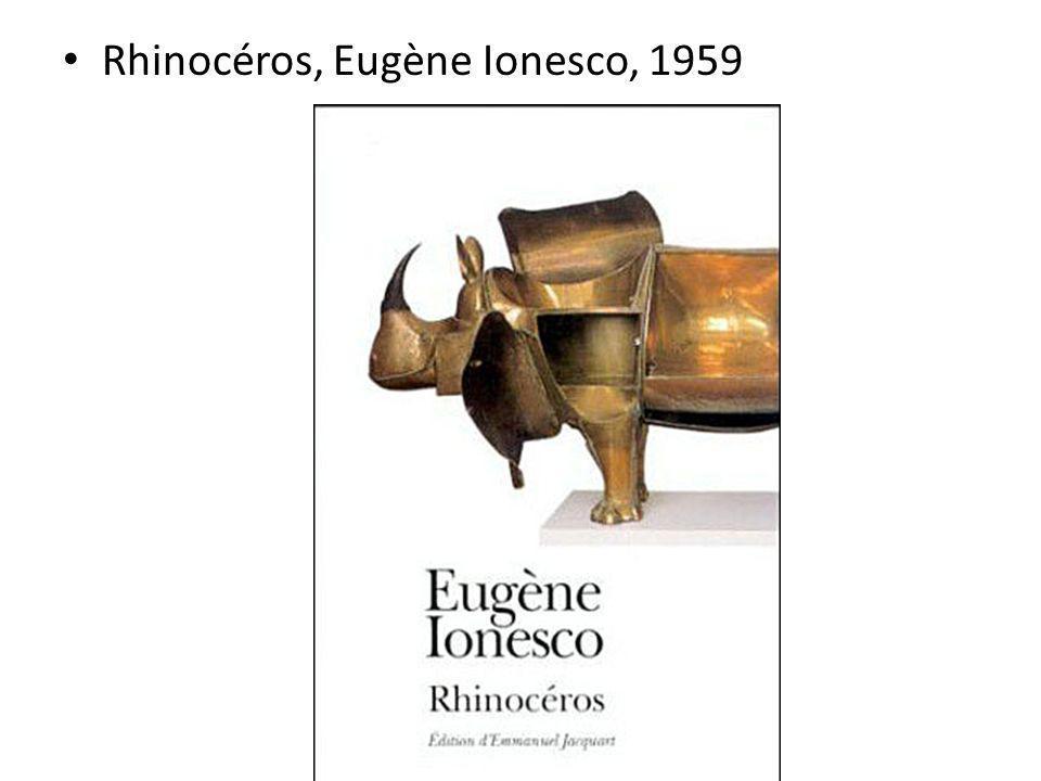 Rhinocéros, Eugène Ionesco, 1959