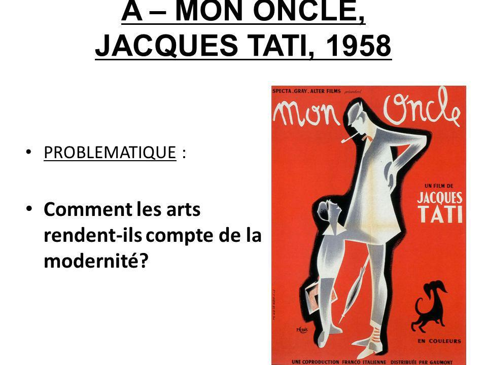 A – MON ONCLE, JACQUES TATI, 1958