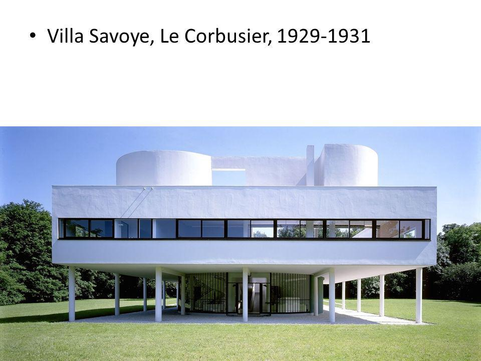 Villa Savoye, Le Corbusier, 1929-1931
