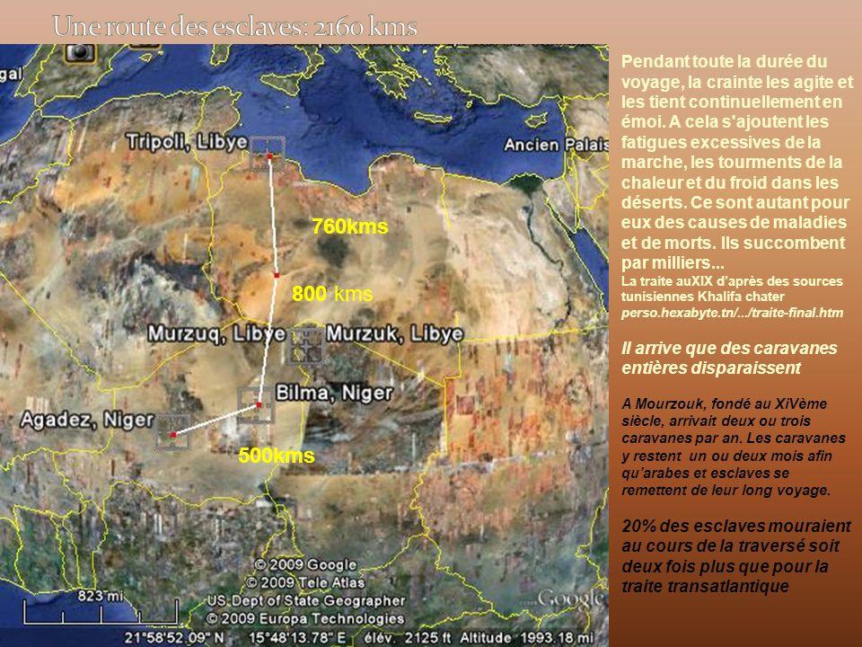 Une route des esclaves: 2160 kms
