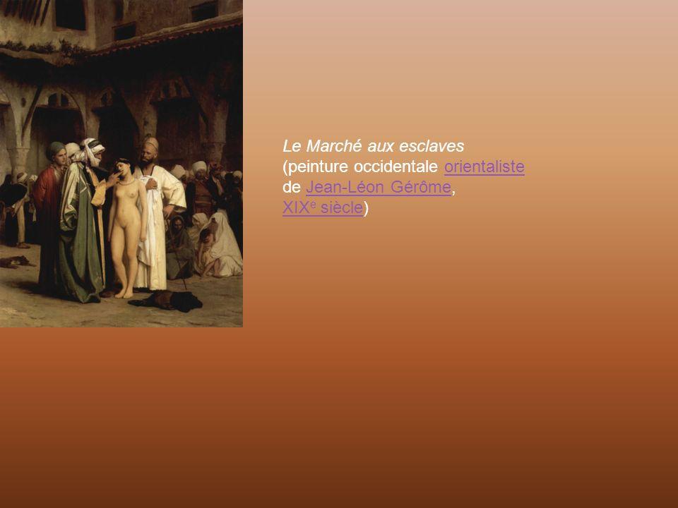 Le Marché aux esclaves (peinture occidentale orientaliste de Jean-Léon Gérôme, XIXe siècle)