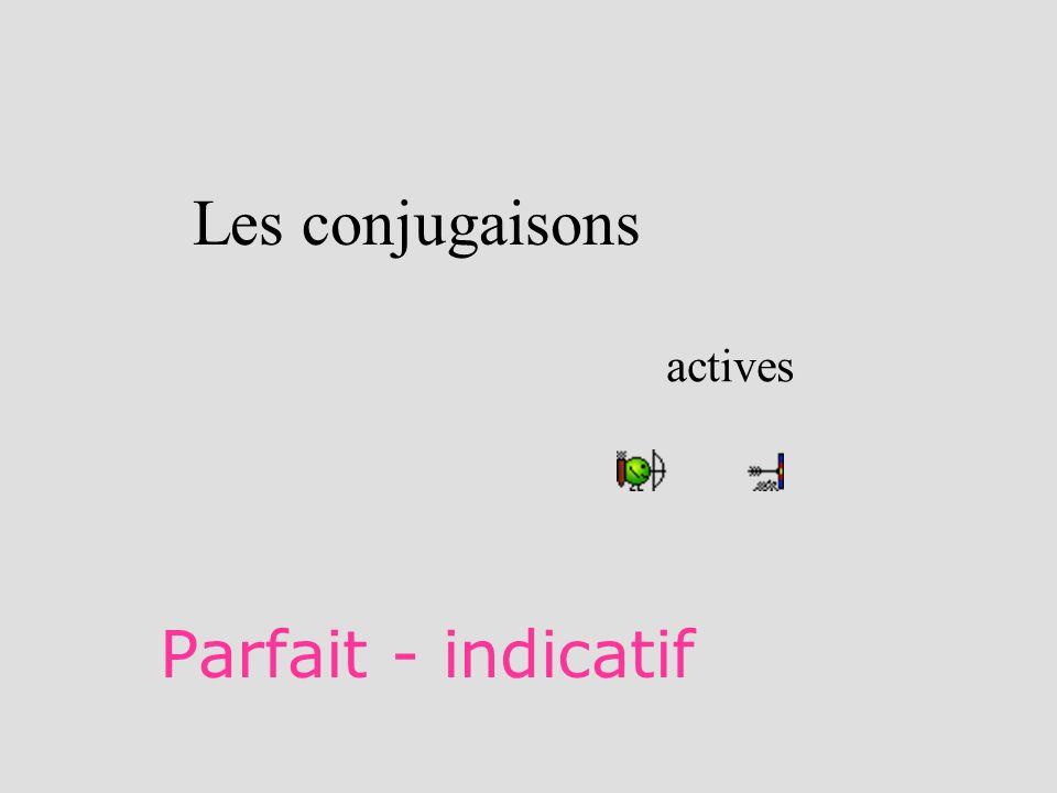 Les conjugaisons actives Parfait - indicatif