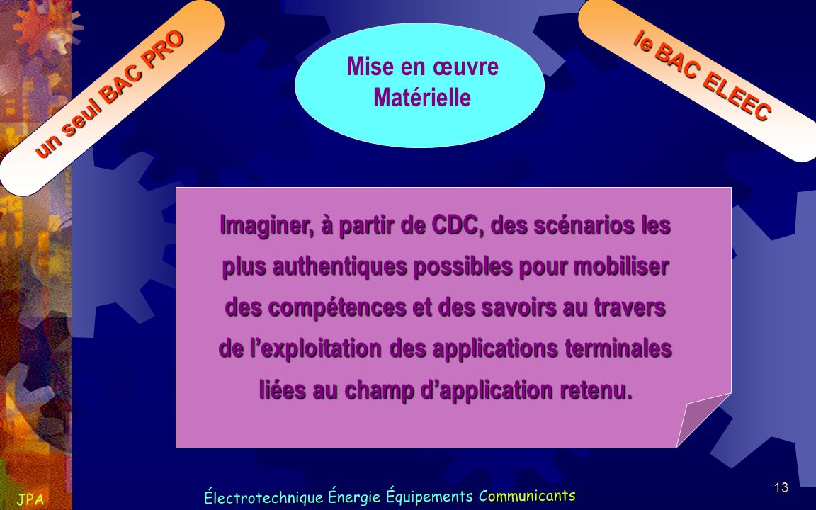 de l'exploitation des applications terminales