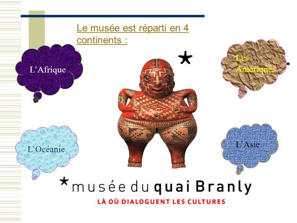 Le musée est réparti en 4 continents :