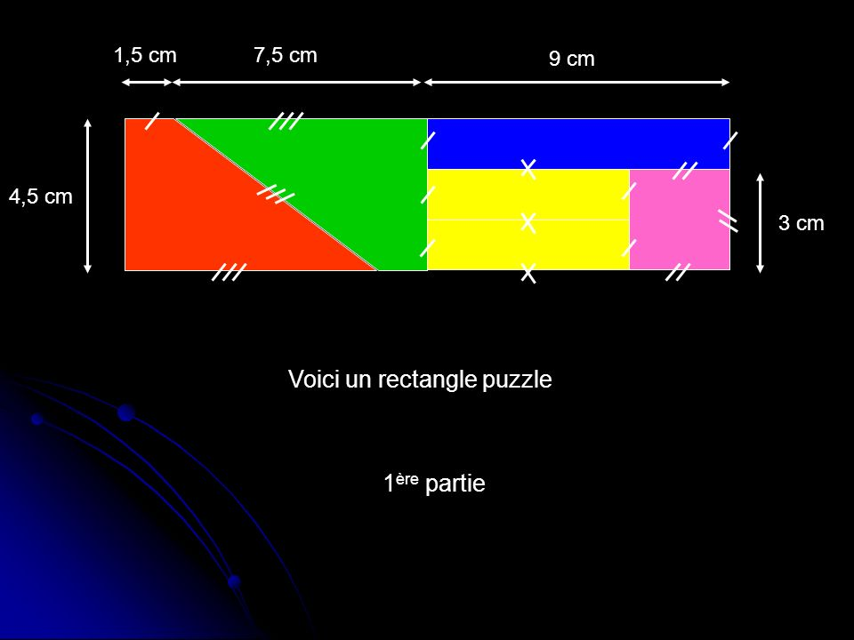 Voici un rectangle puzzle