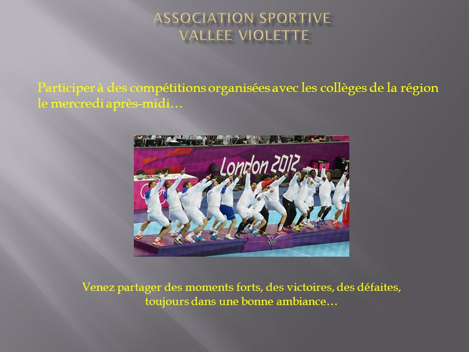 ASSOCIATION SPORTIVE VALLEE VIOLETTE