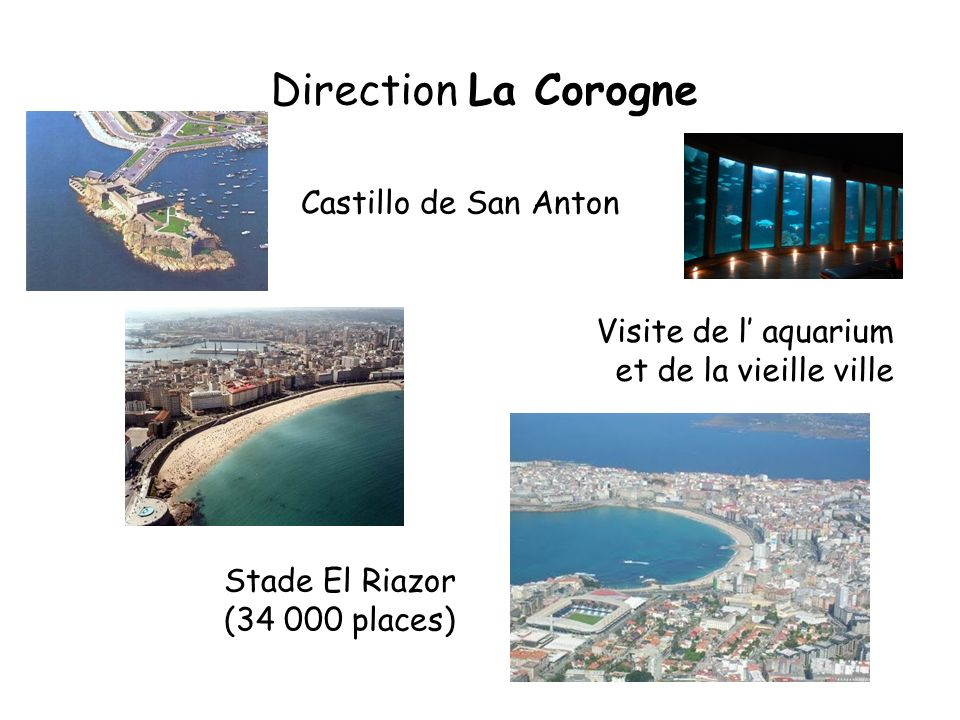 Direction La Corogne Castillo de San Anton Visite de l' aquarium
