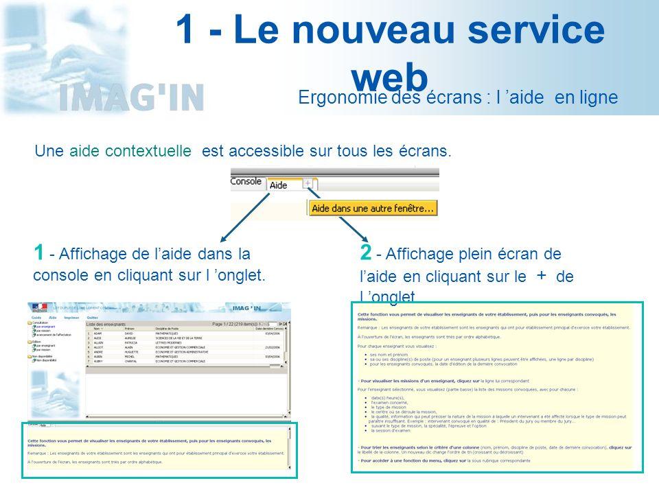 1 - Le nouveau service web